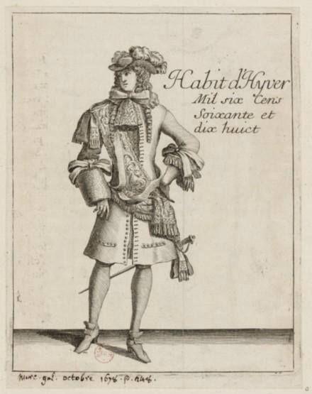 Habit d'hyver, le Mercure Galant d'octobre 1678 – Paris, Bibliothèque Nationale de France
