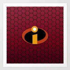 Incredible Logo Art Print
