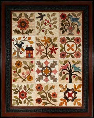 applique wool quilt, nx to the one i made    Front Porch Indiana Farm, made in wools.  Lori Smith pattern   lovely