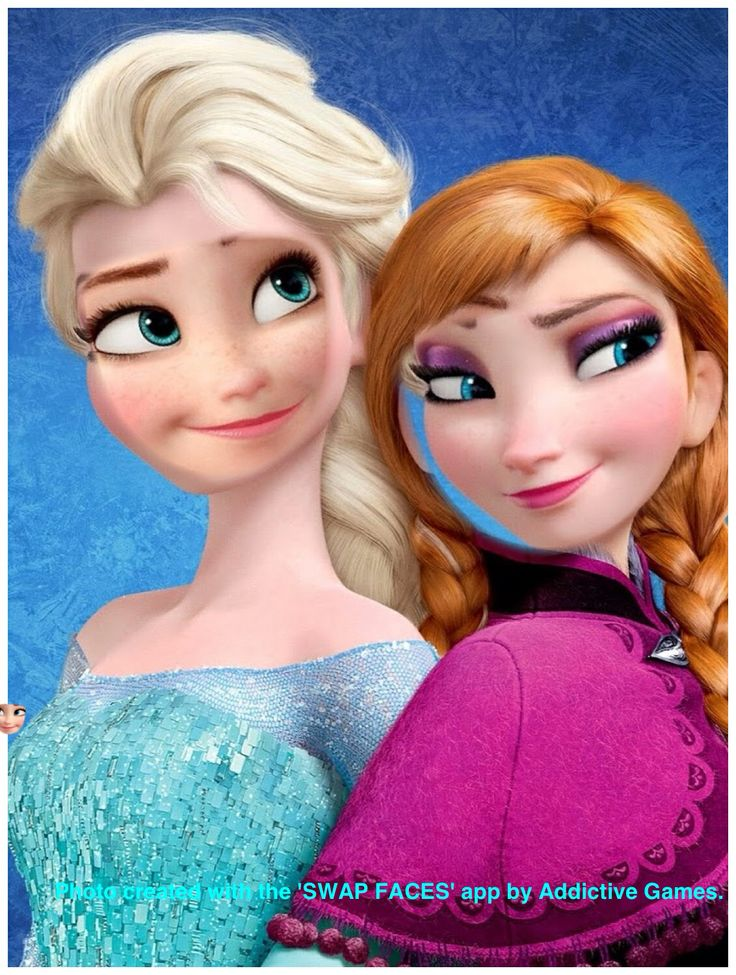 anna and elsa swap faces frozen pinterest elsa