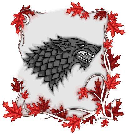 """герб семьи Старков из сериала """"Игра престолов"""". Векторная графика,нарисовано в Adobe Flash CS5"""