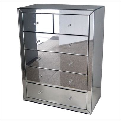 mirror 6 drawer chest wholesale concepts wayfair. Black Bedroom Furniture Sets. Home Design Ideas