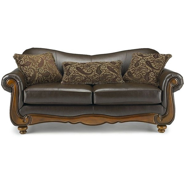 Enzo leather sofa jcpenney via polyvore polyvore for Jcpenney sectional sofas