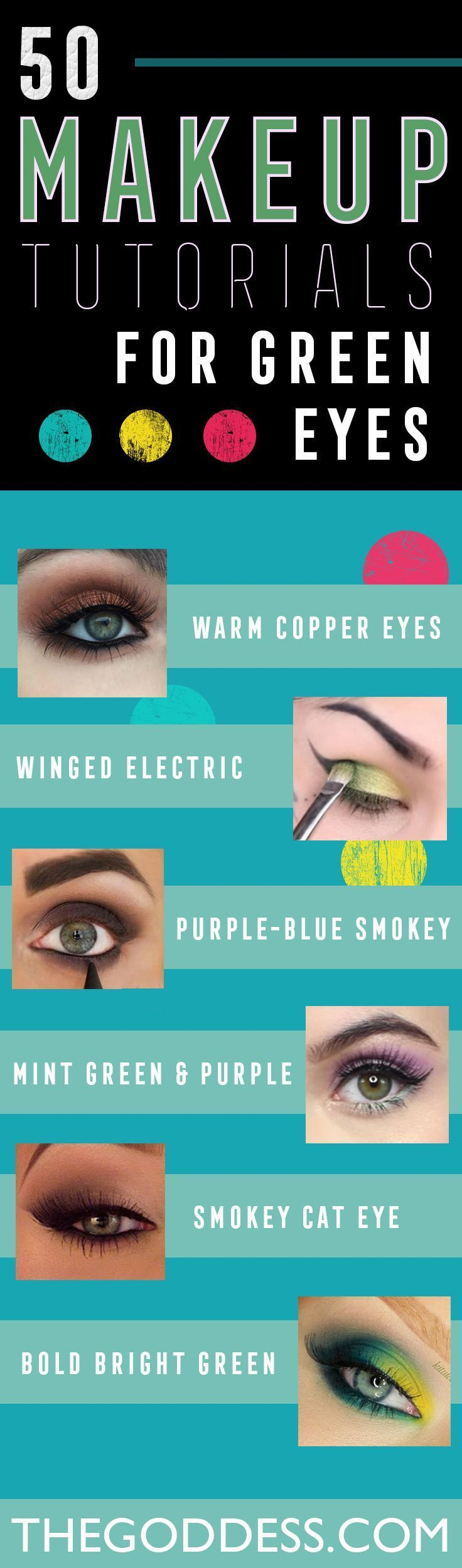 Makeup Tutorials for Green Eyes -Easy Eyeshadow Video and Tutorial Ideas - Natural Everyday Step by Step Beauty Tricks - Simple Looks for Night and Day