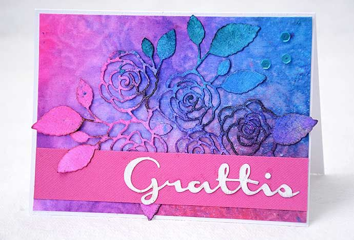Card with cutout roses by Helens Color Life