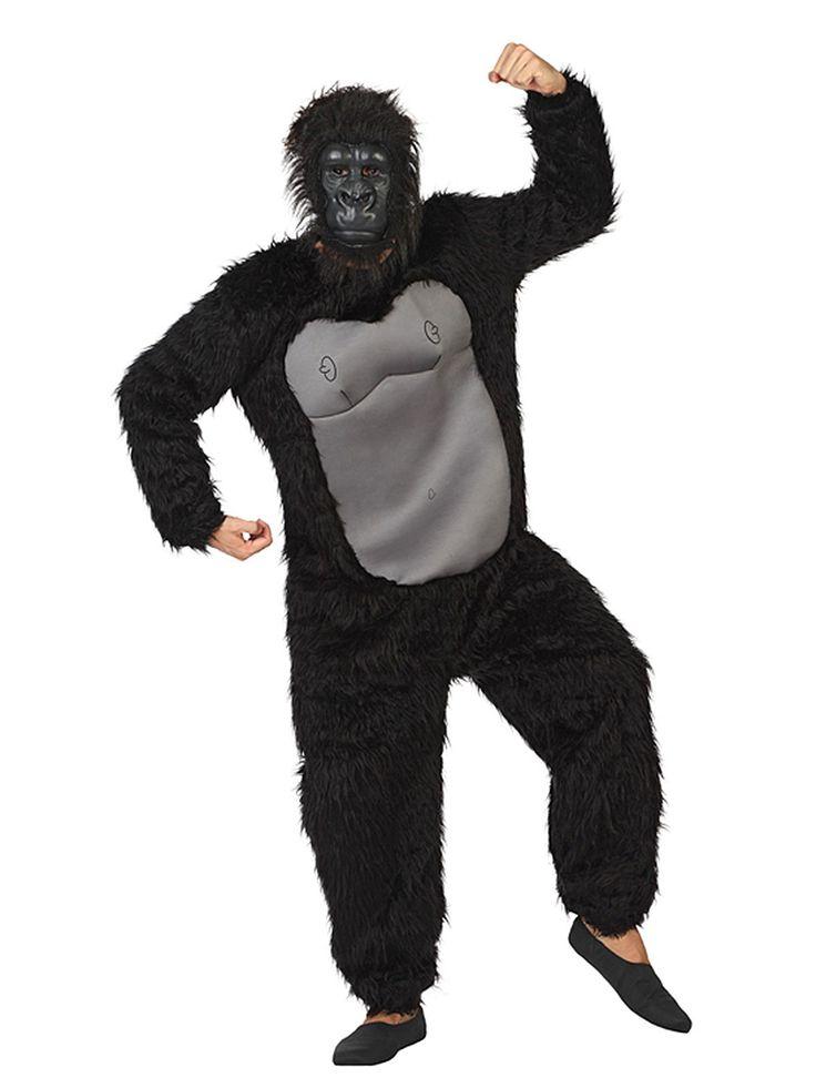 Gorilla Jumpsuit-Kostüm Affe schwarz. Aus der Kategorie Karnevalskostüme / Tierkostüme. Der Gorilla ist nicht nur der wahre König des Urwalds, sondern auch jeder Karnevalsparty!