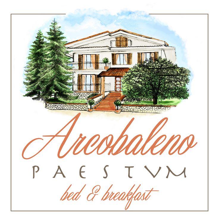B&B #Arcobaleno #Paestum #Logo #Graphic #Design #Salerno #Italy