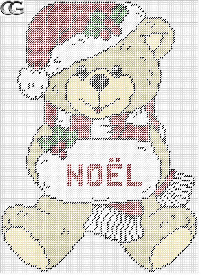 NOEL TEDDY WALL HANGING by CG