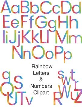 Are you ready for a rainbow of clipart? This set contains 68 individual files and an instruction/idea booklet. It is NOT a font. The files are saved as .gif with transparent backgrounds for easy document and website use. These are high-quality images that can be easily resized in a Word or PowerPoint document.Included are the letters A-Z, both uppercase and lowercase, the numbers 0-9, a period, comma, exclamation point, question mark, pound sign (hashtag) and dollar sign.What can you make…