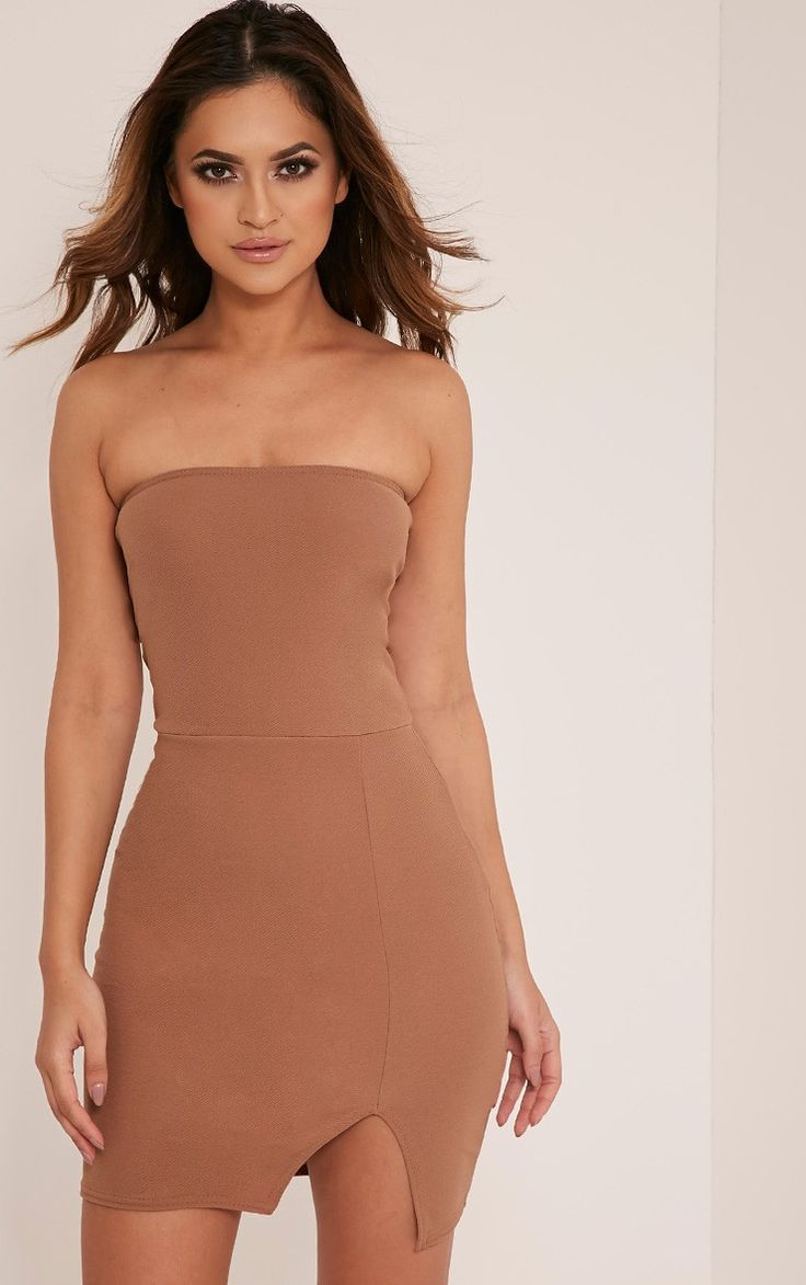 Nude High Neck One Shoulder Cut Out Detail Bodycon Dress Pretty Little Thing 31yCkRWHzw