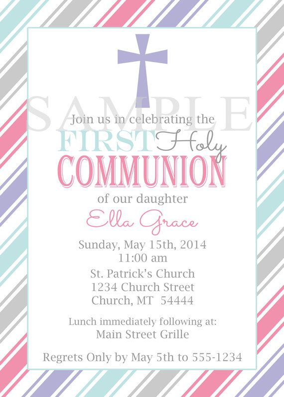 20 4x6 First Communion Baptism Invitations with by CelebrateNStyle, $17.00