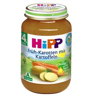 -in USA- HiPP ORGANIC Carrort and Potatoes -1 jar- From the 4th month