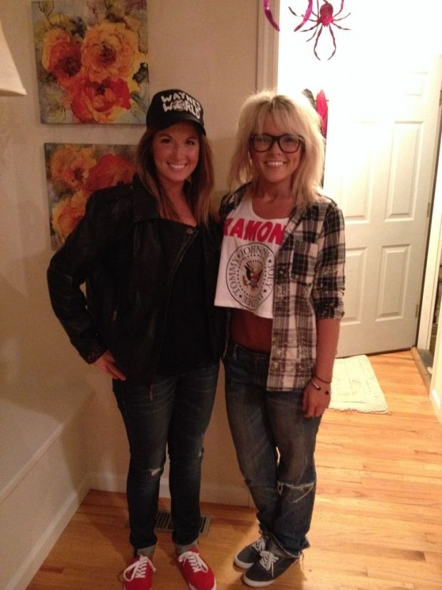 8 Halloween Costumes Every '90s Girl Remembers | http://www.hercampus.com/entertainment/8-halloween-costumes-every-90s-girl-remembers | Wayne & Garth from Wayne's World Costume