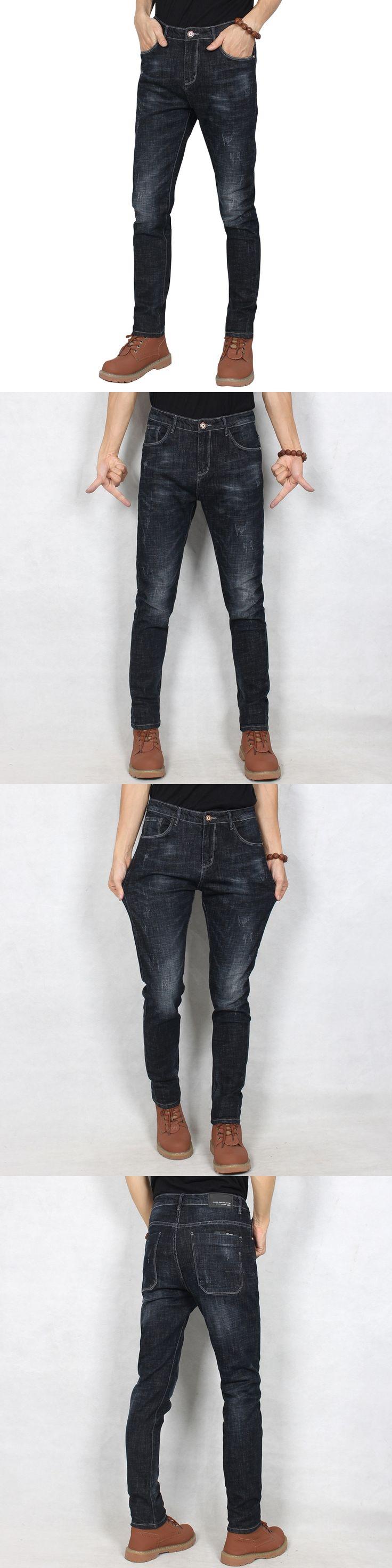 Black Jeans Men Designer Jeans Trousers High Quality Cotton Casual Men`s Jeans Slim Fit Denim Stretch Jeans Men