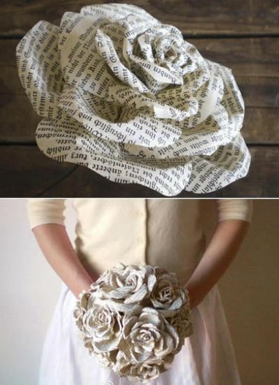 Mesmo com materiais recicláveis considerados não bonitos e desinteressantes você consegue fazer belos artesanatos, como as rosas de jornal velho, que ao
