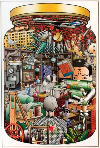 Richard Killeen - City Living. e-size, form, colour, shape, texture, pattern p- value, unity, balance, symmetry, variety, rhythm, repitition