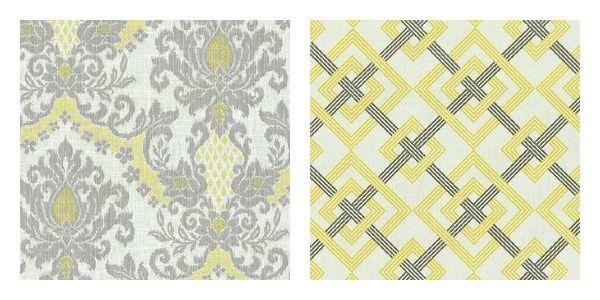 yellow/gray fabricsDecor, Living Rooms, Yellow Gray Fabrics I, Yellowgray Fabrics, Years Yellow Gray Fabrics, Upholstery Fabrics, Bedrooms Ideas, Gray And Yellow Dining Rooms, Fabrics Pattern