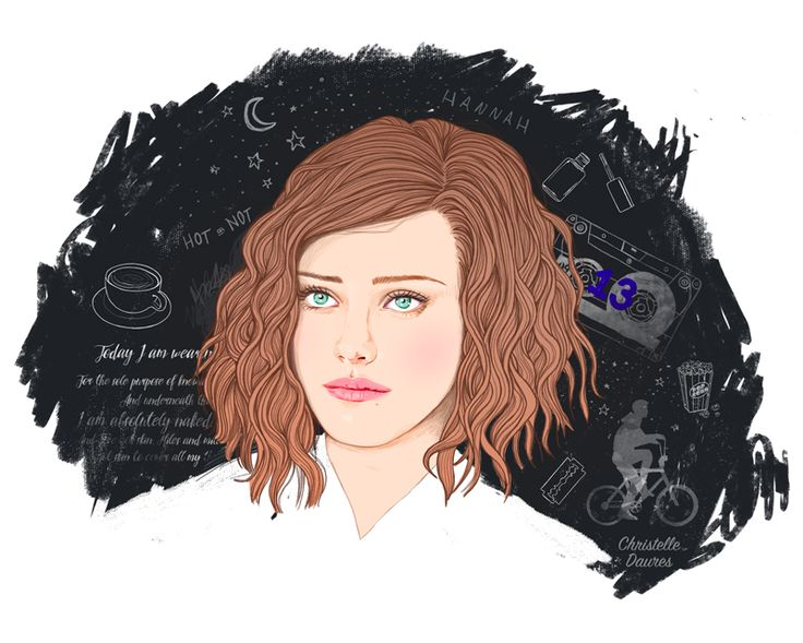 13 reasons why – Hannah Baker illustration – Crecre