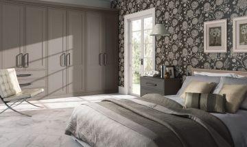 Matt Stone Grey Bedroom Doors - By BA Components. Stylish wardrobe made bespoke in the UK.