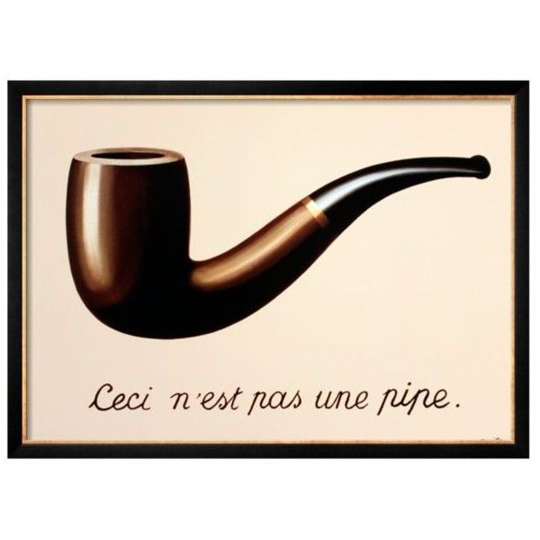 Art.Com Brown La Trahison Des Images By Rene Magritte Framed Art Print (€120) ❤ liked on Polyvore featuring home, home decor, wall art, brown, framed wall art, gold home accessories, gold wall art, brown home decor and gold home decor