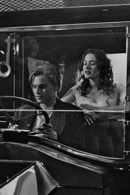 "film, titanic, 1990s, 90s, kate winslet, leonardo dicaprio.    - ""where to, miss?""  - ""to the stars"""