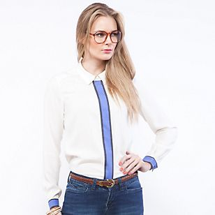 Basement Blusa Blanca Línea
