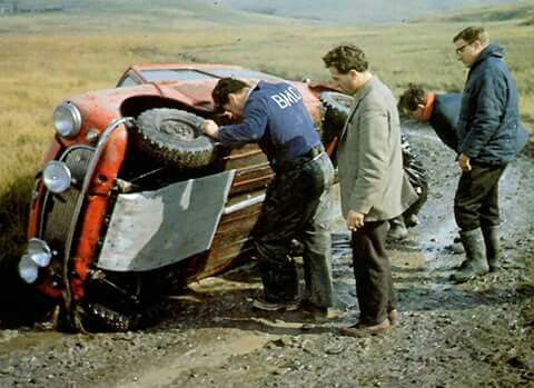 Testing in Wales, Stuart Turner with glasses , Geoff Mabbs in blazer