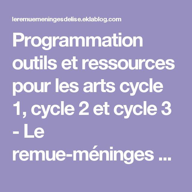 Programmation outils et ressources pour les arts cycle 1, cycle 2 et cycle 3 - Le remue-méninges d'Élise