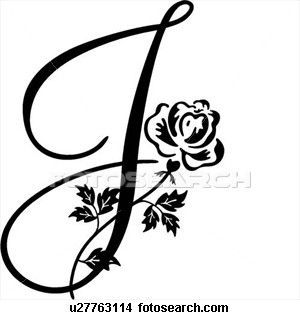 Fancy Cursive Capital J The letter