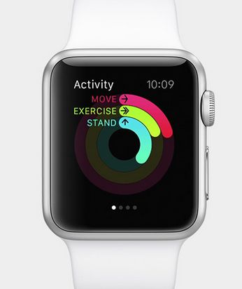 Apple watch comes with an activity app to help you monitor your health.
