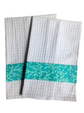 Combine with our NEW Towel Anchor Product To Keep Towel Tidy And In Place! See other design options by clicking Quahog Bay above. Heavy weight and super absorbent Add beautiful nautical décor accents to your Kitchen, Bath or Spa! Perfect to add to a gift basket of bath or kitchen items.  schoonerchandlery.com