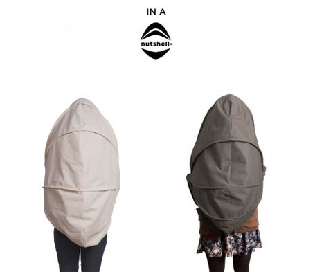 The collapsible, wearable isolation chamber. hahaha