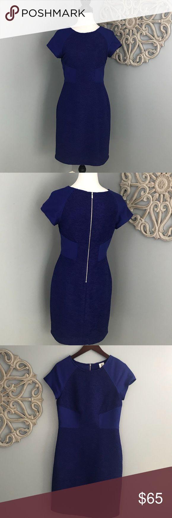 Julia Jordan | Textured Royal Blue Dress Textured royal blue dress by Julia Jordan.   Cap sleeves.  EUC. No rips, stains, tears or snags. Julia Jordan Dresses Midi