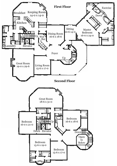 16 best floorplans images on pinterest floor plans for Authentic historical house plans