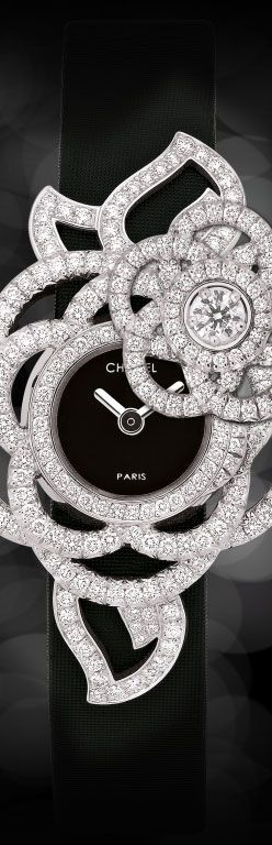awesome Watch in 18k white gold, opals, pink sapphires and diamonds JEWELRY WATCHES CHANEL