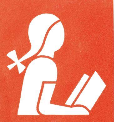 girl reading isotype by gerd arntz