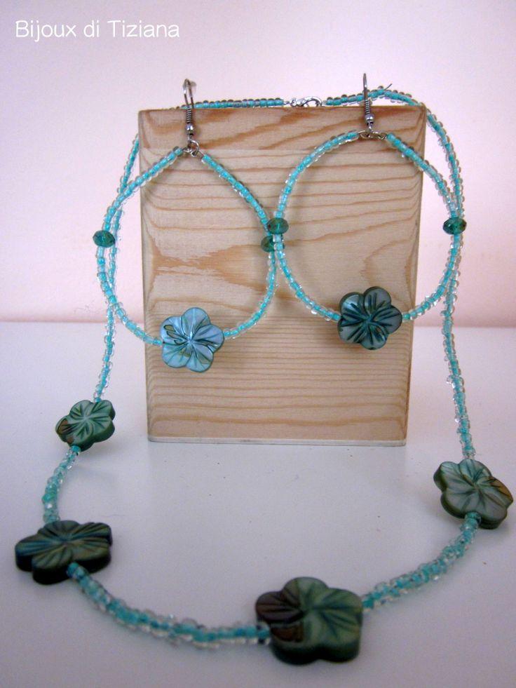 Aspettando la primavera! Fiore color verde acqua. Handmade Bijoux
