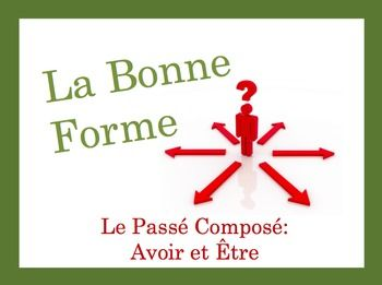 French Speaking and Writing Powerpoint Activity: Passé Composé (avoir + être)