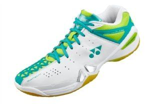 Yonex SHB01LX Badminton Shoes by Yonex. $119.00. Upper: P.U. Leather, Polyester Mesh. Outsole: Rubber. Midsole: E.V.A.. Power Cushion 102 Women's Badminton Shoes. Upper: P.U. Leather, Double Russel Mesh, Tough Guard III Midsole: Elastic EVA, Power Cushion, T.P.U., Solid EVA Outsole: Rubber Color: Red