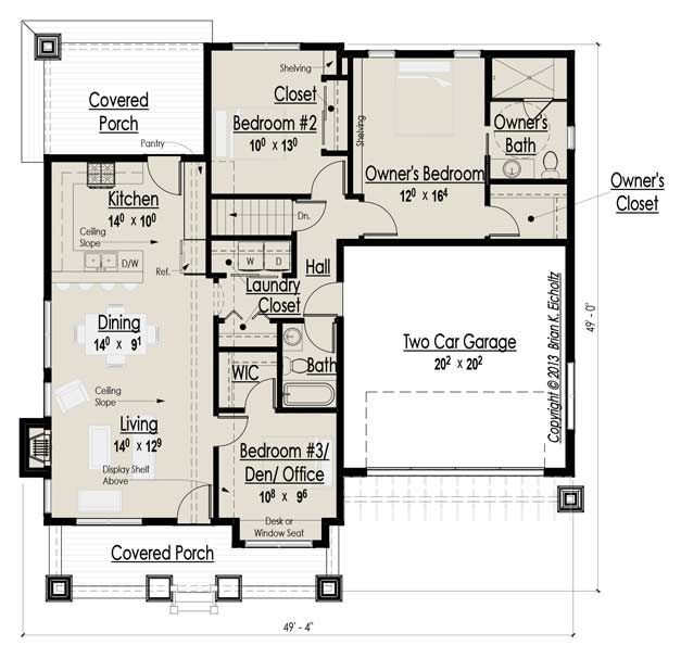 1000+ Images About House Plans With Potential Studio Space
