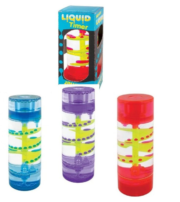 LIQUID TIMER Decorative Liquid Spiral Bubbles Autism ADHD Sensory Calming Time
