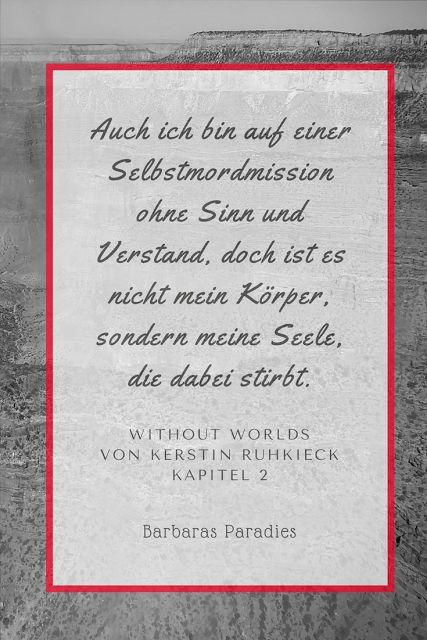Buchrezension #125 Without Worlds von Kerstin Ruhkieck Das Buch hat mich mitgerissen! Leseempfehlung von mir! Meine Rezension findet ihr auf meinem Blog!