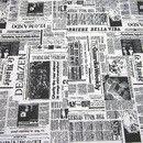 Weiteres - Stoff Zeitung schwarz weiß Paket Mix No. 127 - ein Designerstück von werthers-stoffe bei DaWanda