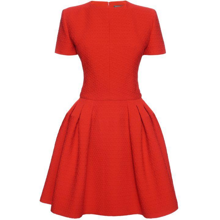 ALEXANDER MCQUEEN Dresses Pleated Peplum Mini Dress