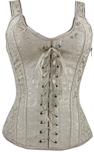 Imilan Women Lace up Strap Corset and Basques Sexy Underwear. Was: $19.98 Now: $10.98