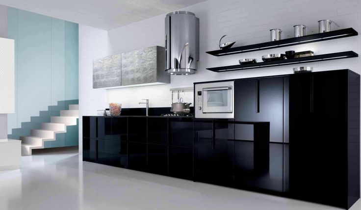 Kitchen : House Interior Design Also Black Furniture With Black Kitchen Cabinets And Stainless Steel Cooker Hood Besides Kitchen Furniture Kitchen Decoration And Furniture Kitchen In Color Themes Kitchen Inspirations Awesome And Luxury Design Find Inspiration Kitchen Design Part 5 Kitchen Design. Cooker Hood. White Cabinets.