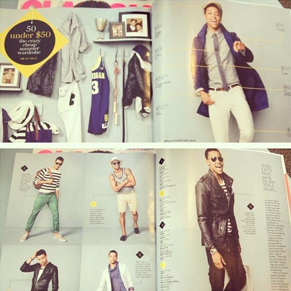 Trey Burke repping @University of Michigan in @GQmagazine #goblue #michigan #fashion #GQ