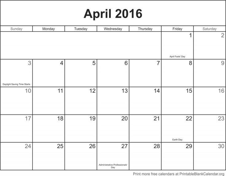 Best 25+ Blank calendar template 2016 ideas on Pinterest Blank - printable blank calendar