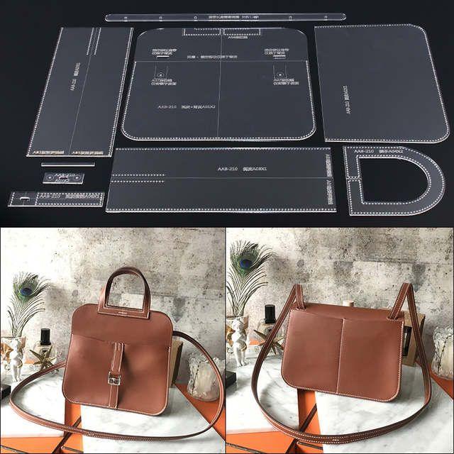 1 set el yapımı deri bayan gündelik çanta tasarım tek omuz omuzdan askili çanta tasarım şablon akrilik dayanıklı versiyonu desen