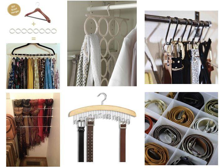 rangement foulards et ceintures organizing pinterest assaisonnement et fils. Black Bedroom Furniture Sets. Home Design Ideas